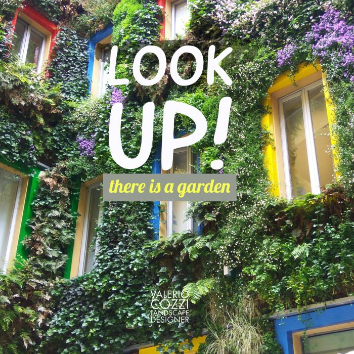 look up! there is a garden!