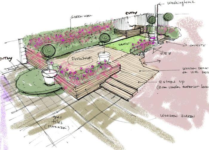 schizzi progetto green lounge a riyadh di valerio cozzi (3)