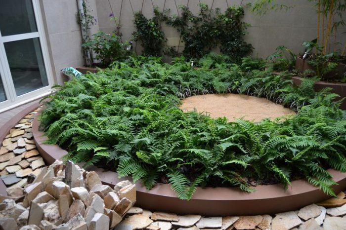 Giardino interno in attesa della scultura
