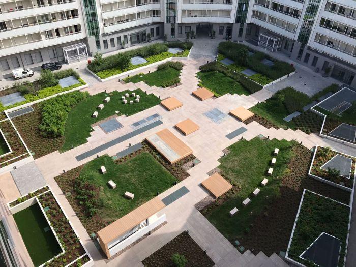 milano porta volta giardino pensile vista aerea