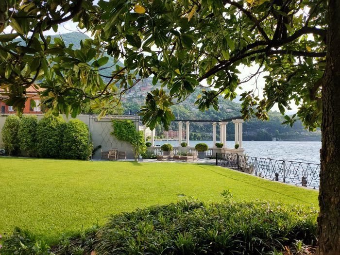 Il cuore del giardino storico di Villa Allamel a Cernobbio